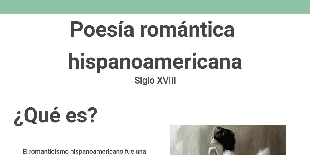 Poesía Romántica Hispanoamericana By Mario Efrain Bolio