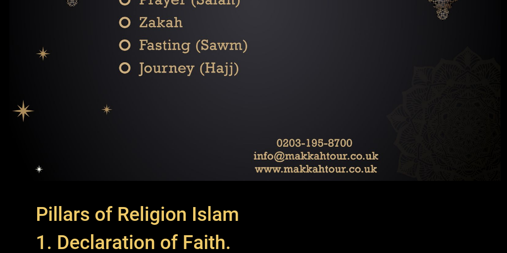 Pillars of Religion Islam - Infogram