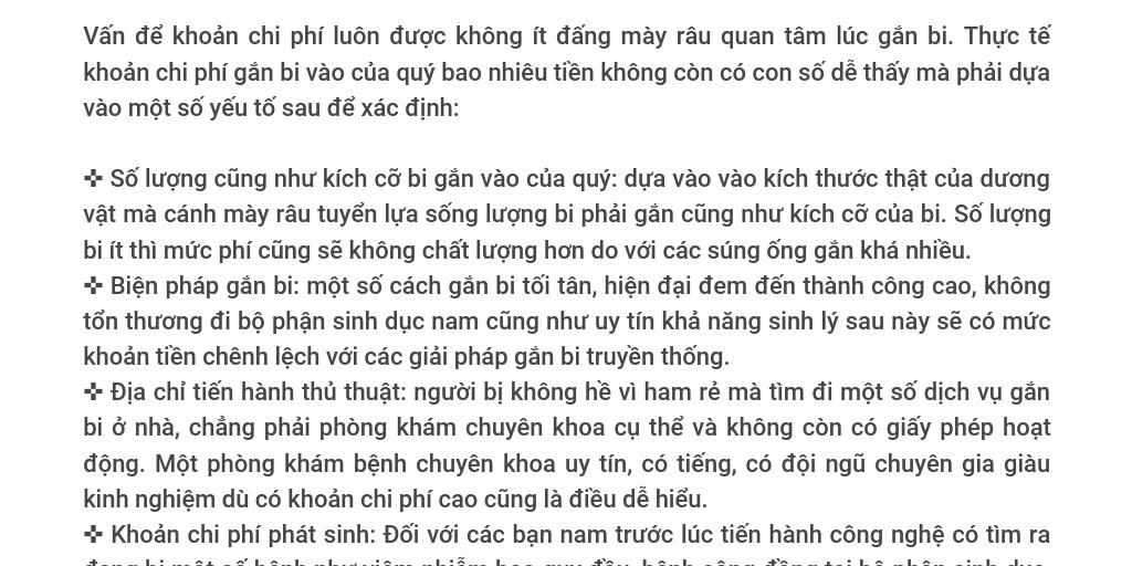 Gắn Bi Vào Của Quý Bao Nhiêu Tiền   Tăng Khoái Cảm by la phuong - Infogram