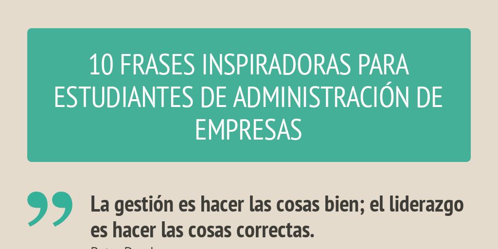 Frases Para Estudiantes De Administración De Empresas By