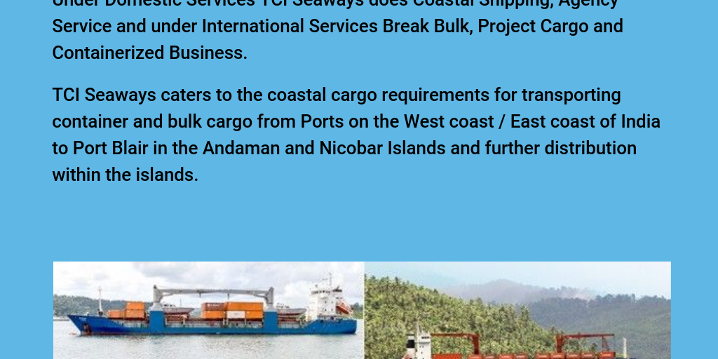 Find the Best Shipping Services in India at TCI Seaways