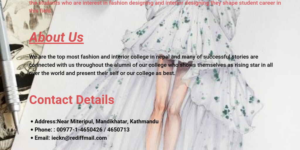 Best Fashion Designing College In Nepal Infogram